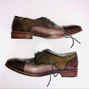 PIKOLINOS Neutral Leather Detailed Lace Up Oxford